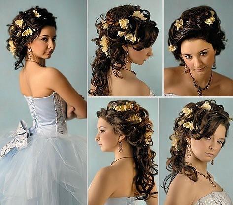 Прически с цветами для свадьбы фото