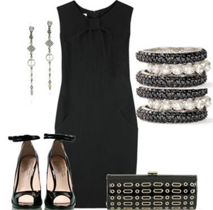 Идеи для фото с чёрным платьем