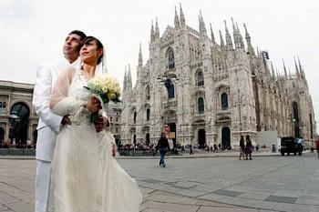 Свадьба в Италии: бракосочетание в Милане в Королевском дворце