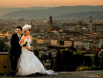 Свадьба в Италии: бракосочетание во Флоренции во дворце Палаццо Веккьо