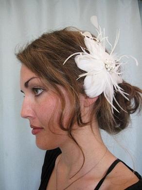 свадебные прически мода 2009