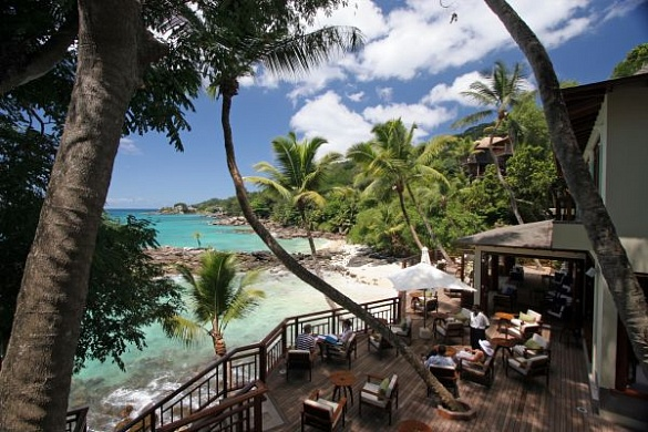 Ресторан отеля Hilton Seychelles Northolme Resort & Spa (5 звезд) остров Маэ