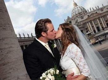 Свадьба в Италии: бракосочетание в Риме в свадебном зале Каракалла