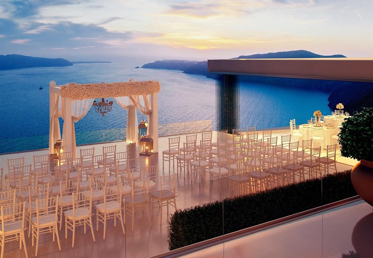 Cafe santorini wedding