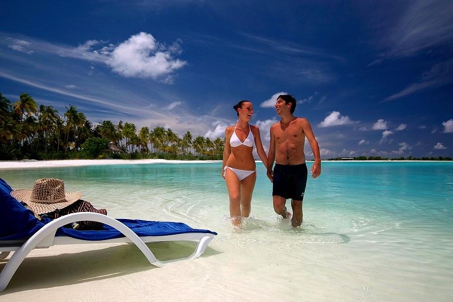 Секс на пляже мальдив